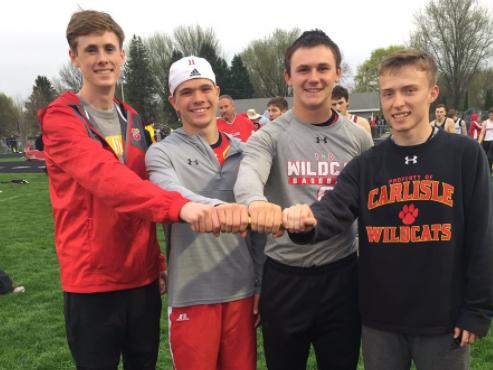 Distance Medley Relay- School Record: 3:37.16