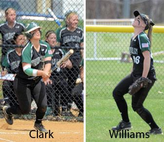 Clark, Williams Voted All-CACC In Softball
