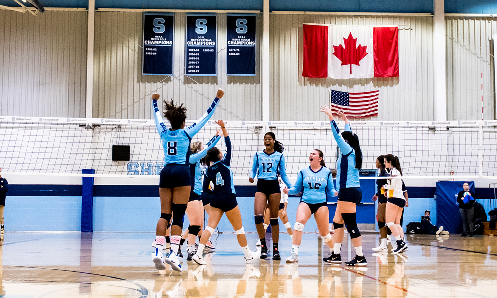 Women's volleyball win streak snapped in loss to Humber