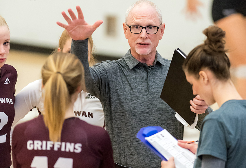 MacEwan women's volleyball head coach Ken Briggs noted this weekend's Griffins-Pandas Invitational is an excellent opportunity to see where they're at a month ahead of the season (Chris Piggott photo).
