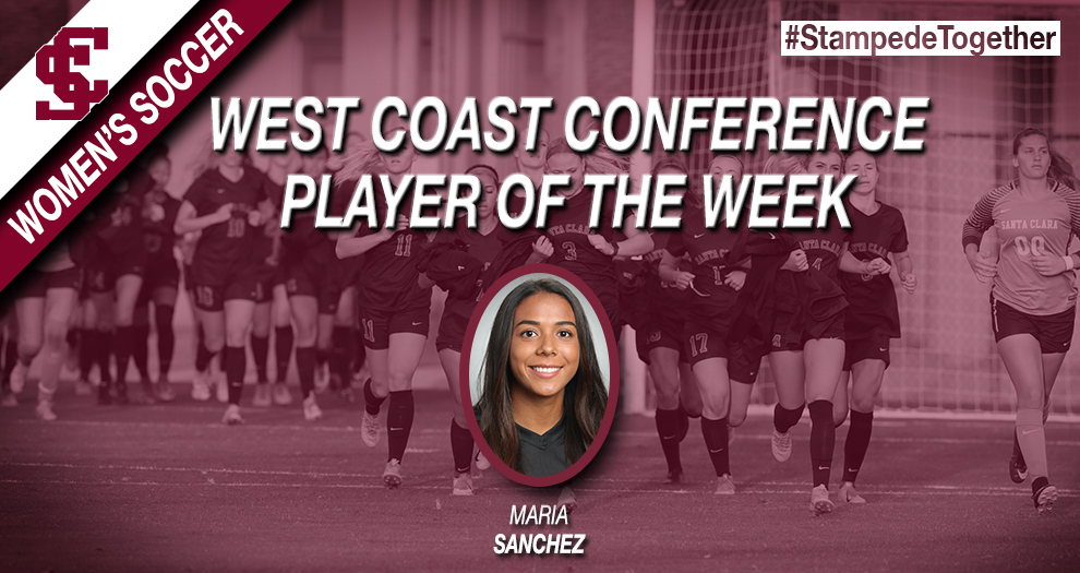 Sanchez Named WCC Player of the Week After Four Assist Performacne