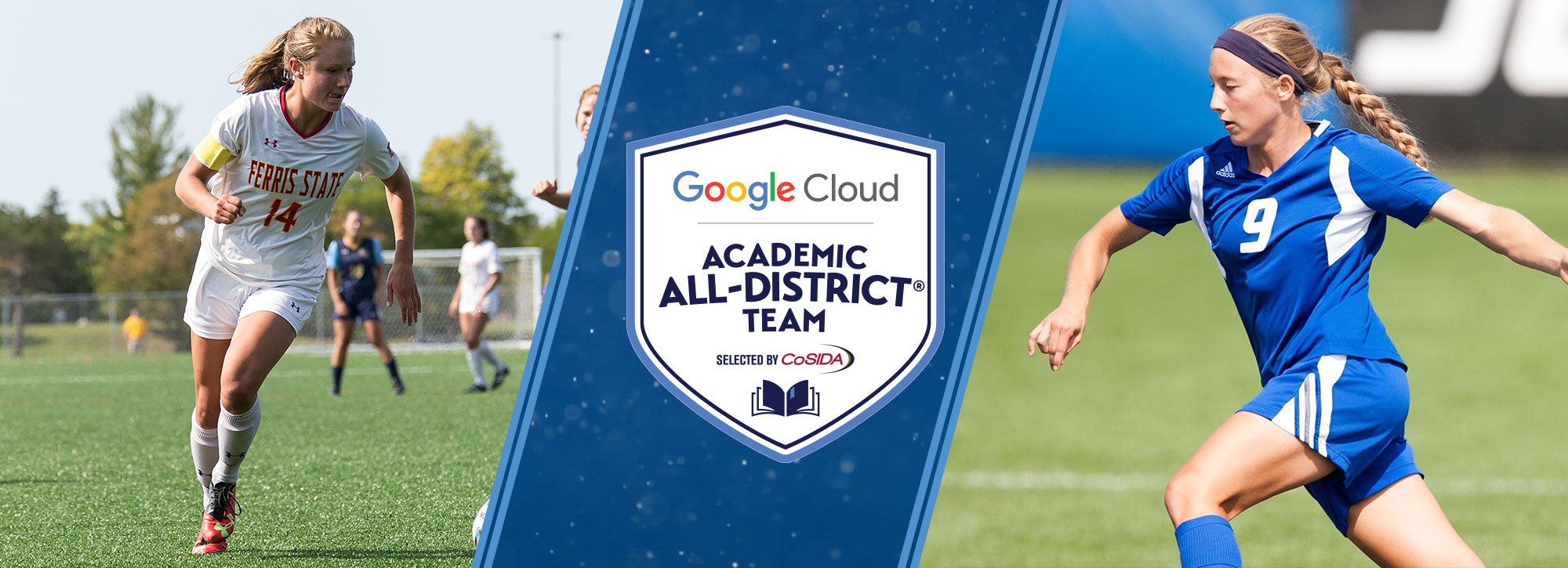 Ferris State's Dubbert, Grand Valley State's Ham Honored Google Cloud Academic All-District