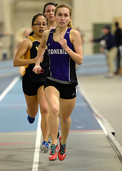 Caiazzi finished 42nd in the 800-meter run