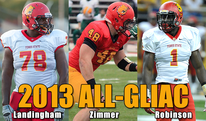 Twelve Ferris State Football Student-Athletes Tabbed To All-GLIAC Team In 2013