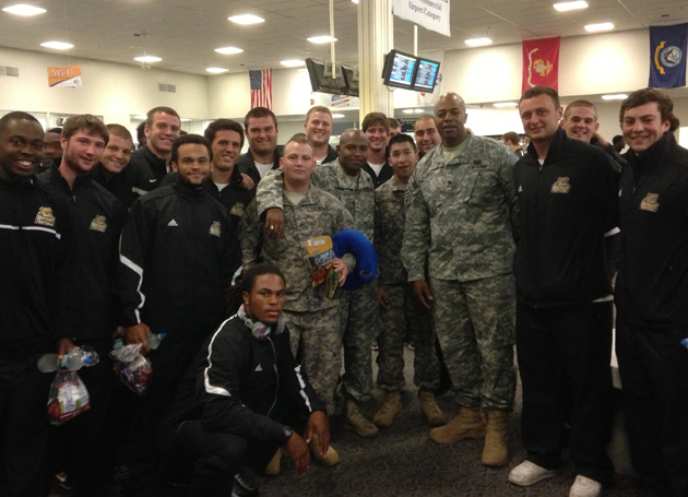 Football meets U.S. Army, Marines