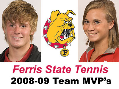 Ferris State team MVP's Jack Swan (left) & Amy Ingle (right)