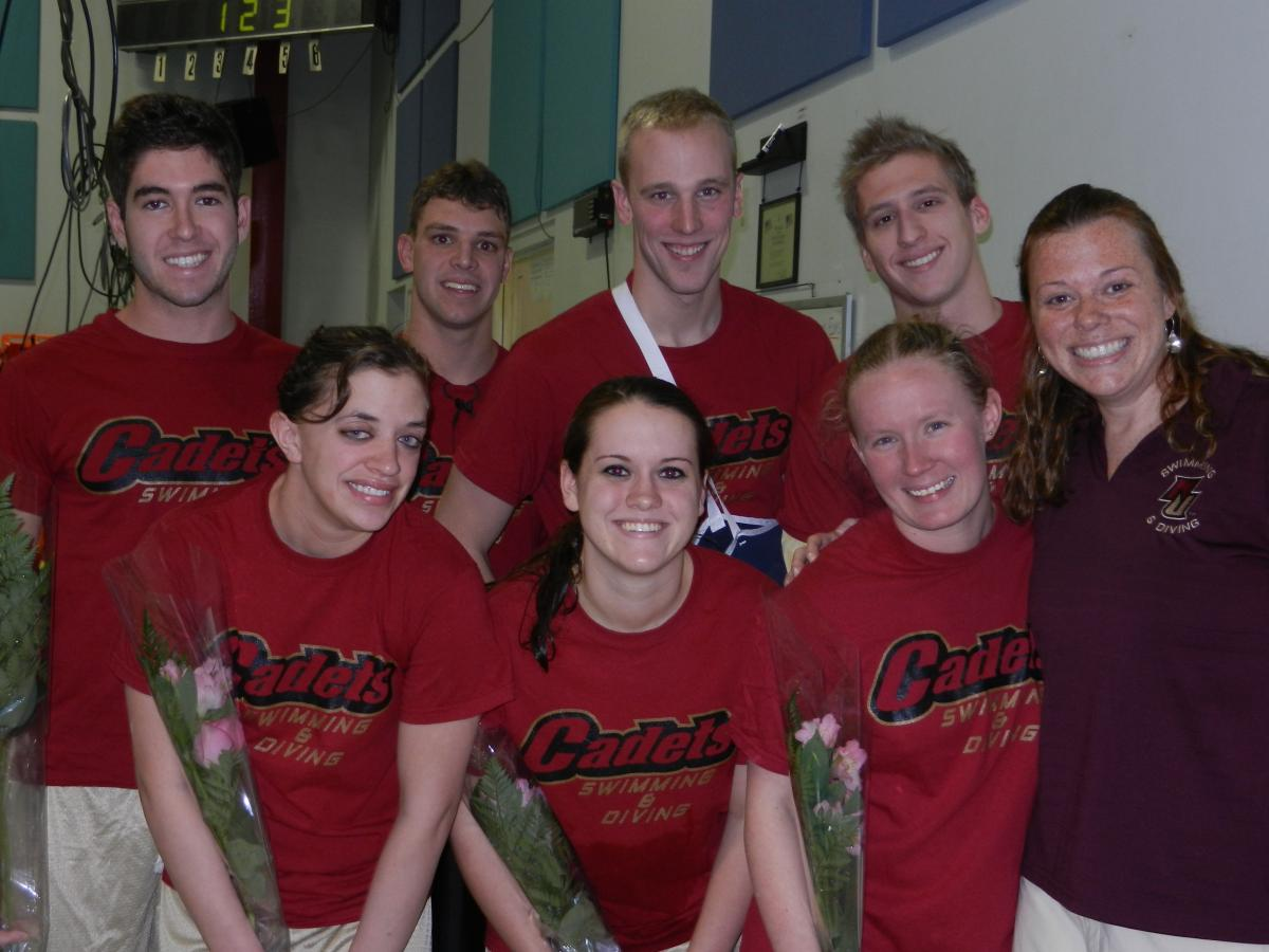 Swimming and diving - Seniors provide highlights in final home dual