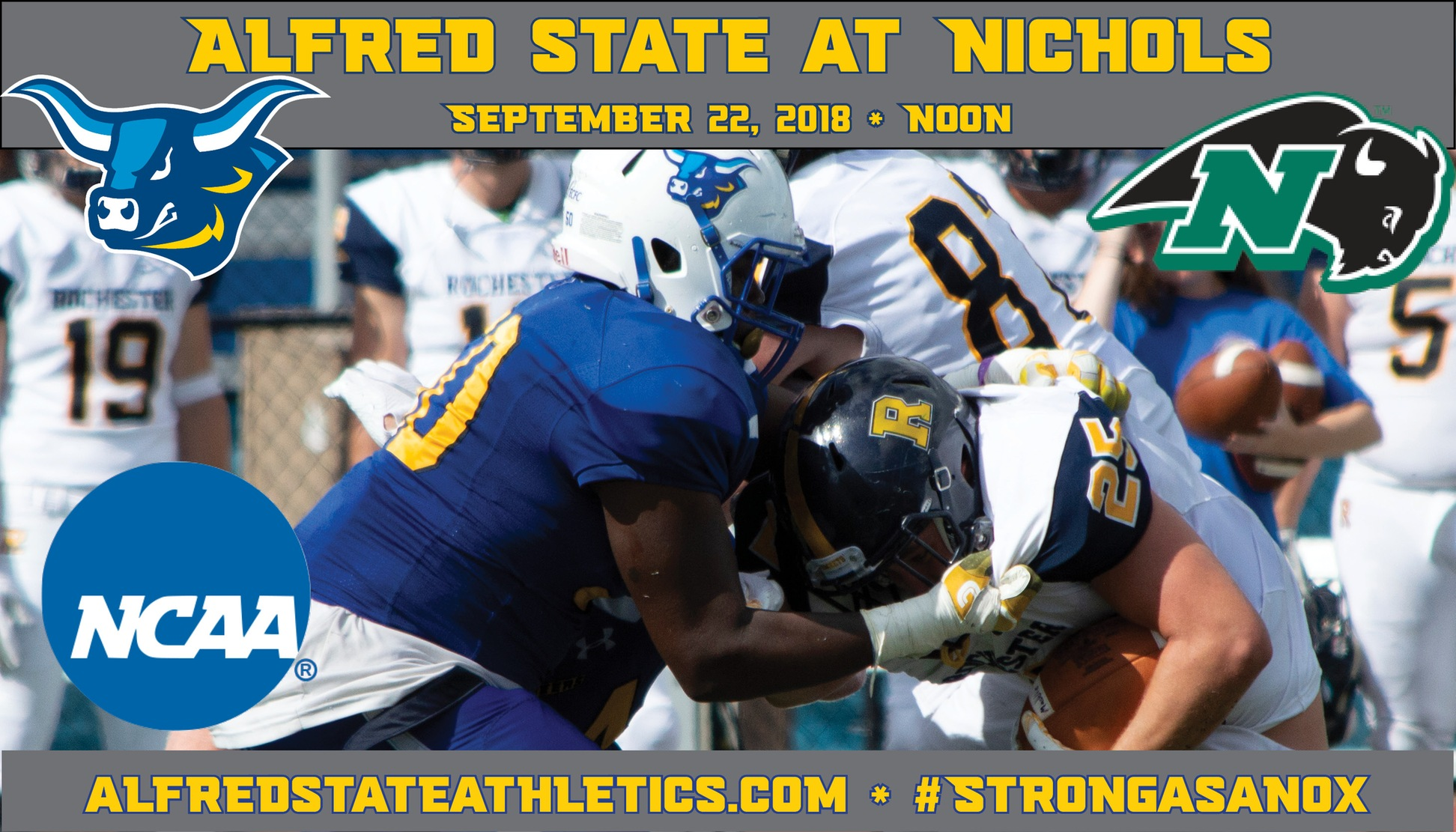 Alfred State travels to Nichols to take on the Bison in their final non-conference contest.