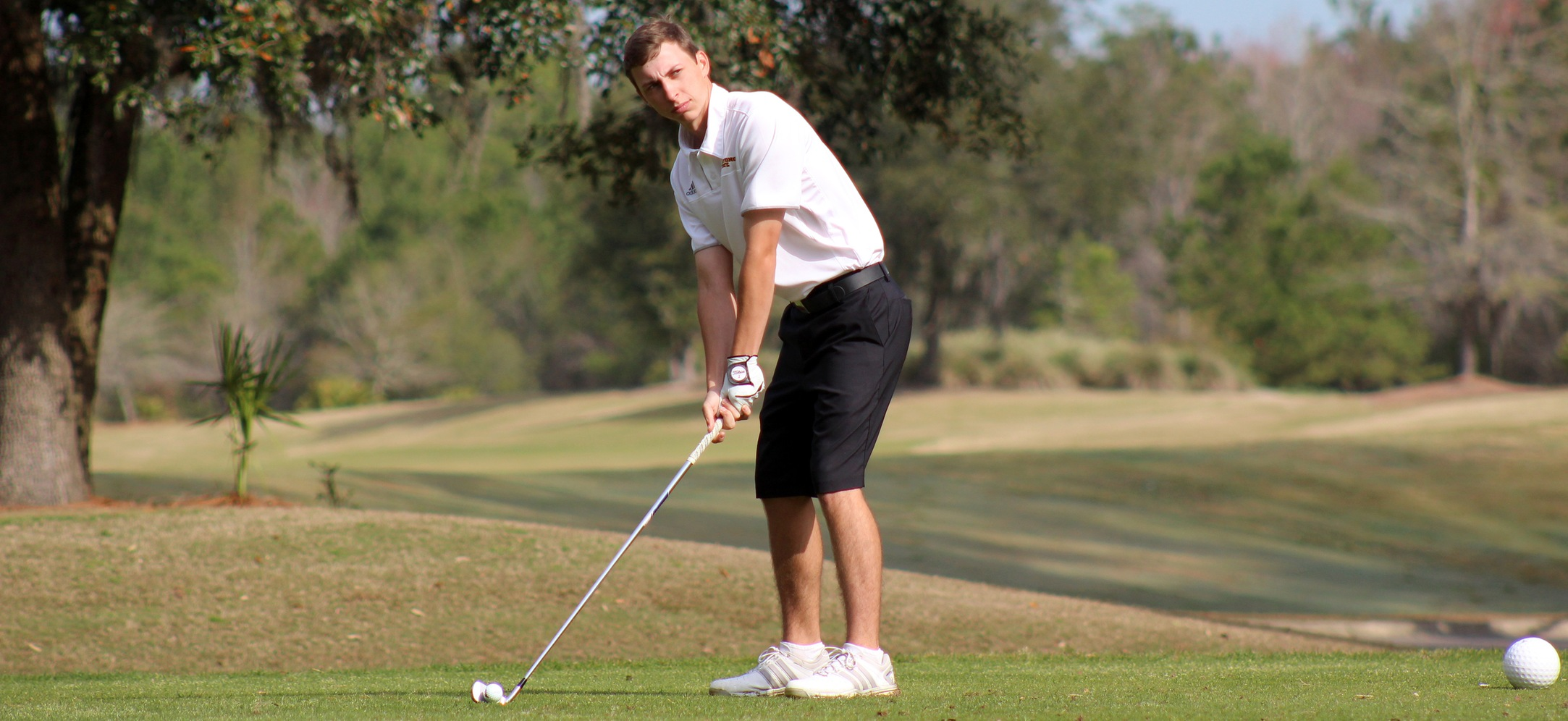Men's Golf Tied For Seventh After First Round Of PBC Championships
