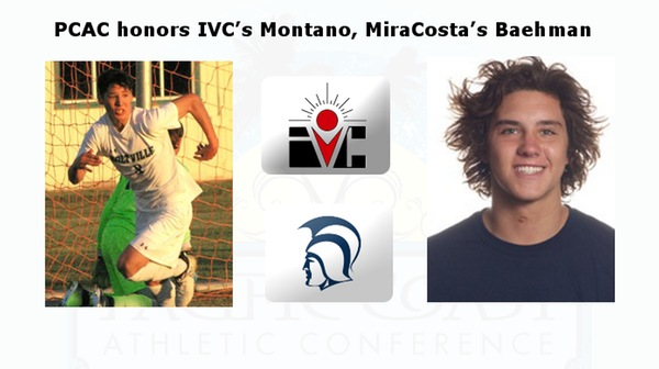 PCAC honors IVC's Montano, MiraCosta's Baehman