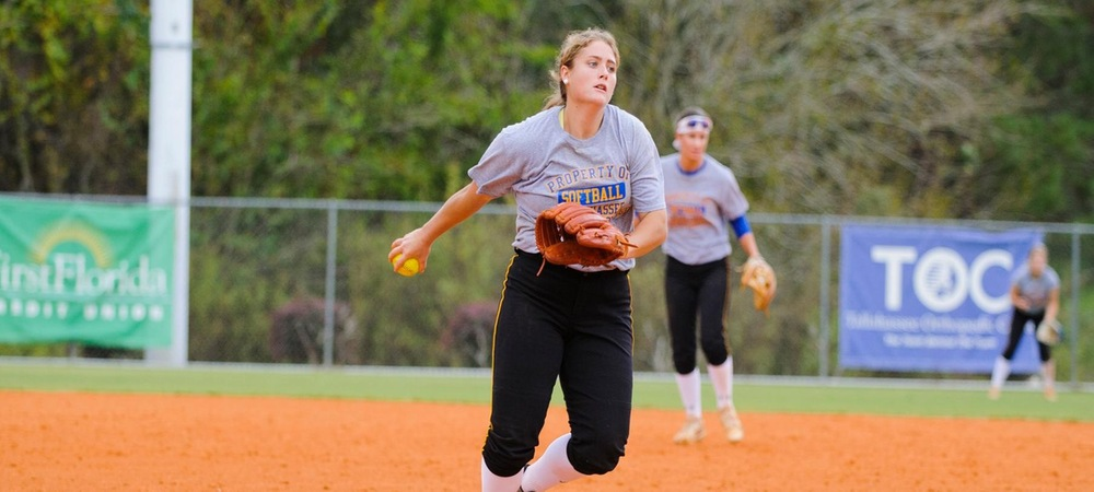 Hanna Stapleton took the loss in the Eagles' second game on Sunday (photo courtesy of Greg Rowland)