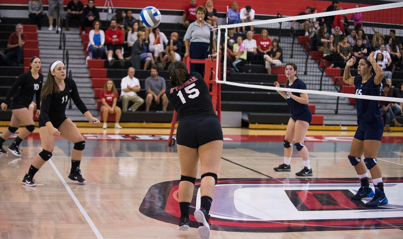 Rochester Sweeps D'Youville in Three Sets