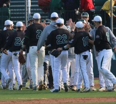 Rams Hold Purchase to Four Hits in Playoff Win