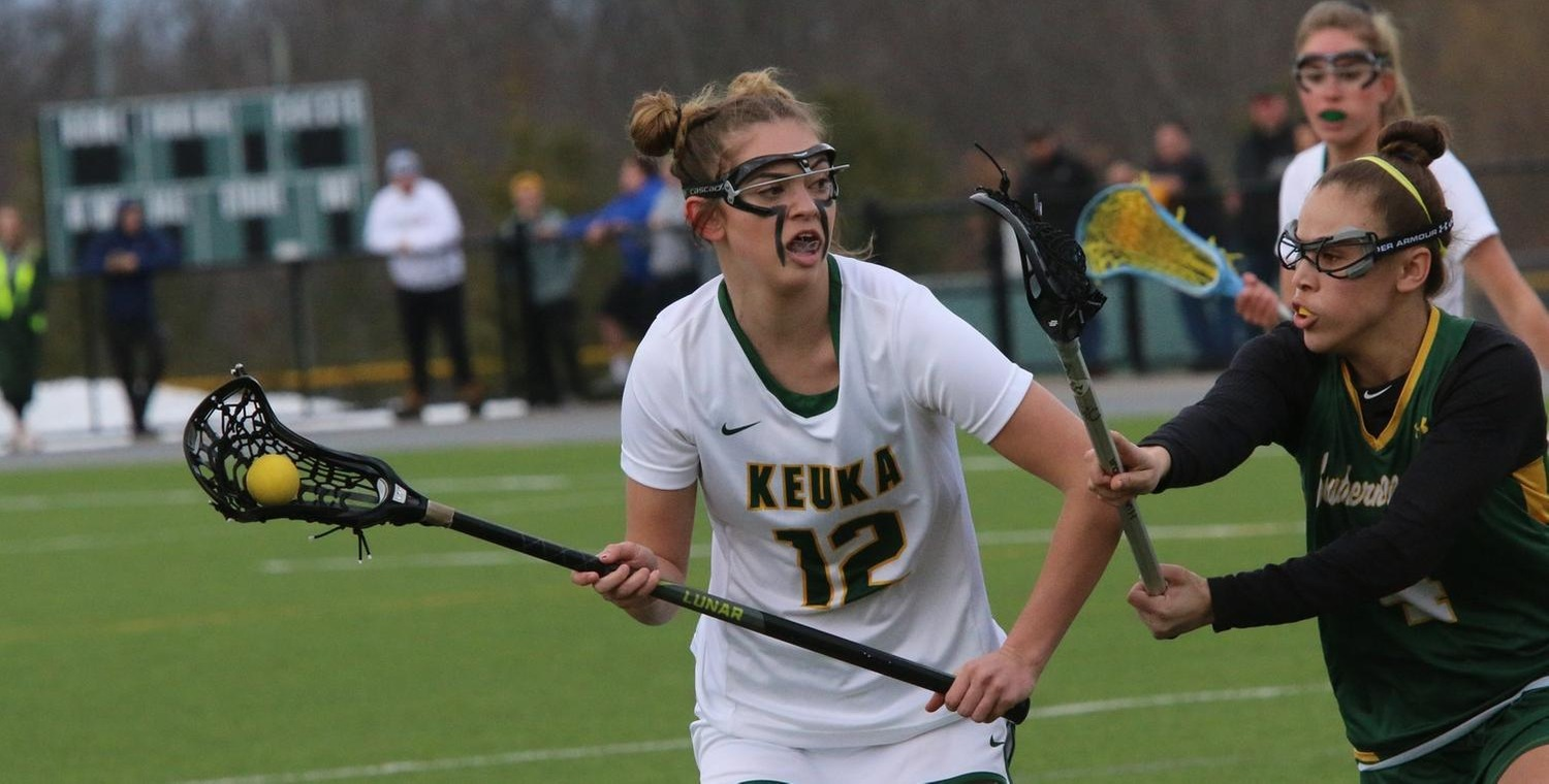 Sydney Bloom (12) scored five goals for Keuka on Friday -- Photo by Ed Webber