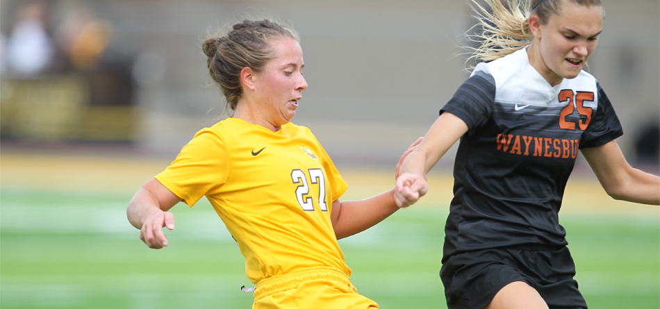 Junior forward Claire Cuthbertson scored her first two career goals in the final five minutes of BW's 4-0 win over Waynesburg (Photo courtesy of John Reid)