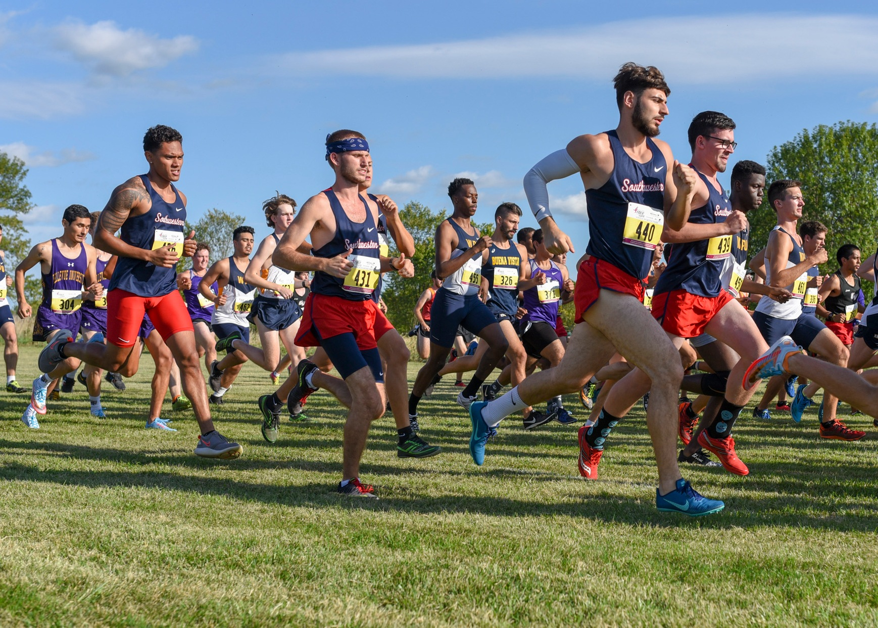 SWCC men's cross country at Bill Buxton Invitational