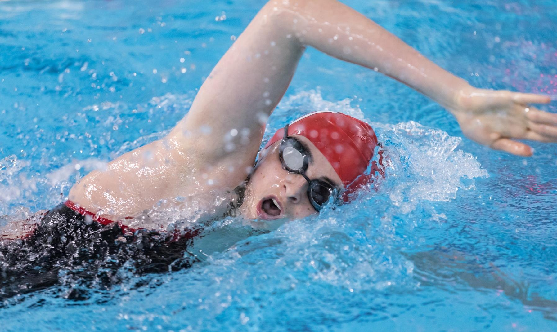 Women's Swimming and Diving Edged by Trinity