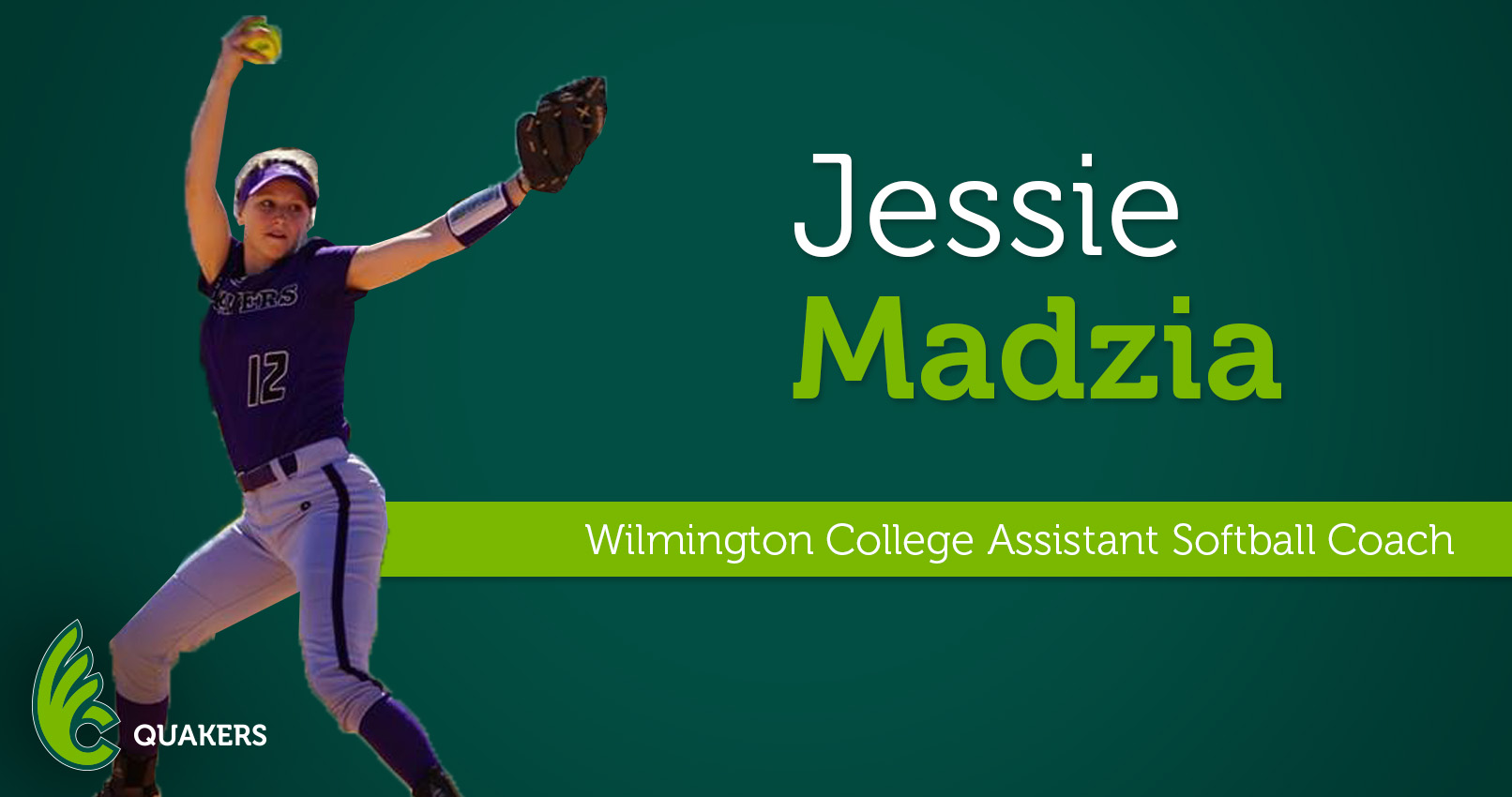 Jessie Madzia Joins Softball Program as Assistant Coach