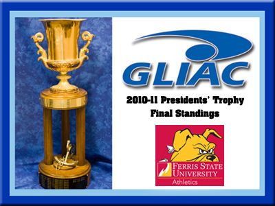 Ferris State Takes Fifth In Final 2010-11 GLIAC President's Trophy Standings