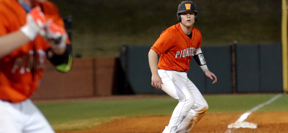 Finchum leads Pioneers to baseball split with Belmont Abbey