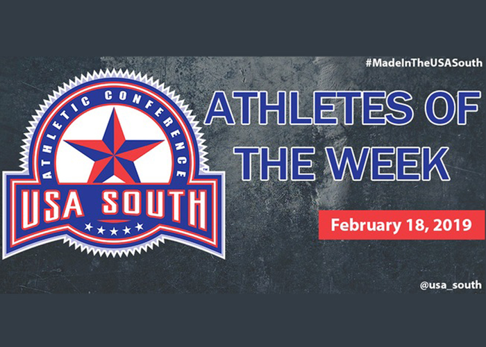 Four Hawks recognized as USA South Athletes of the Week