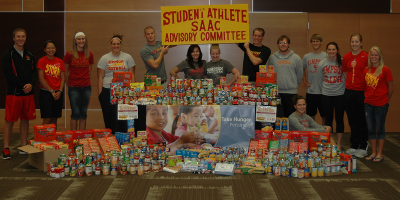 "Simpson athletes, Sodexo ""rally"" to stop hunger"
