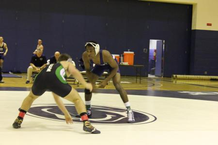 Wrestling Opens Season With 21-15 Win Over Slippery Rock