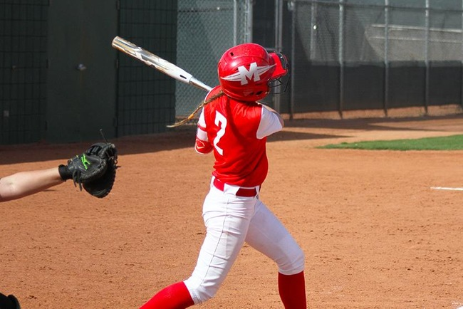Tori Gonzalez scored the only run of the day for Mesa with a solo home run. (photo by Aaron Webster)