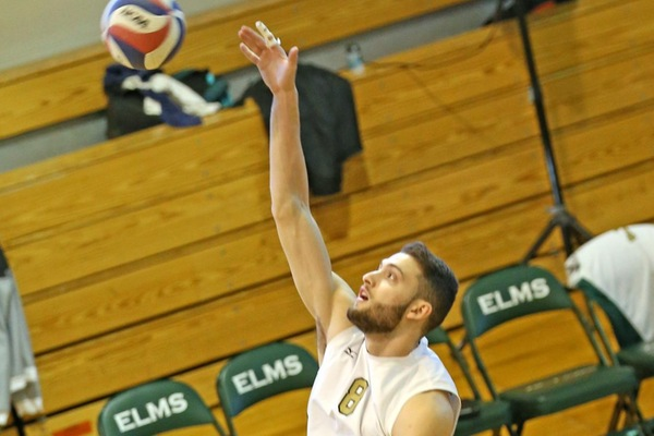 Elms Men's Volleyball Digs Out Of 0-2 Hole For Dramatic Win Over Sage