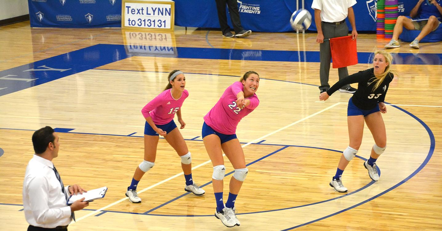 Volleyball Drops Defensive Battle to #14 Palm Beach Atlantic