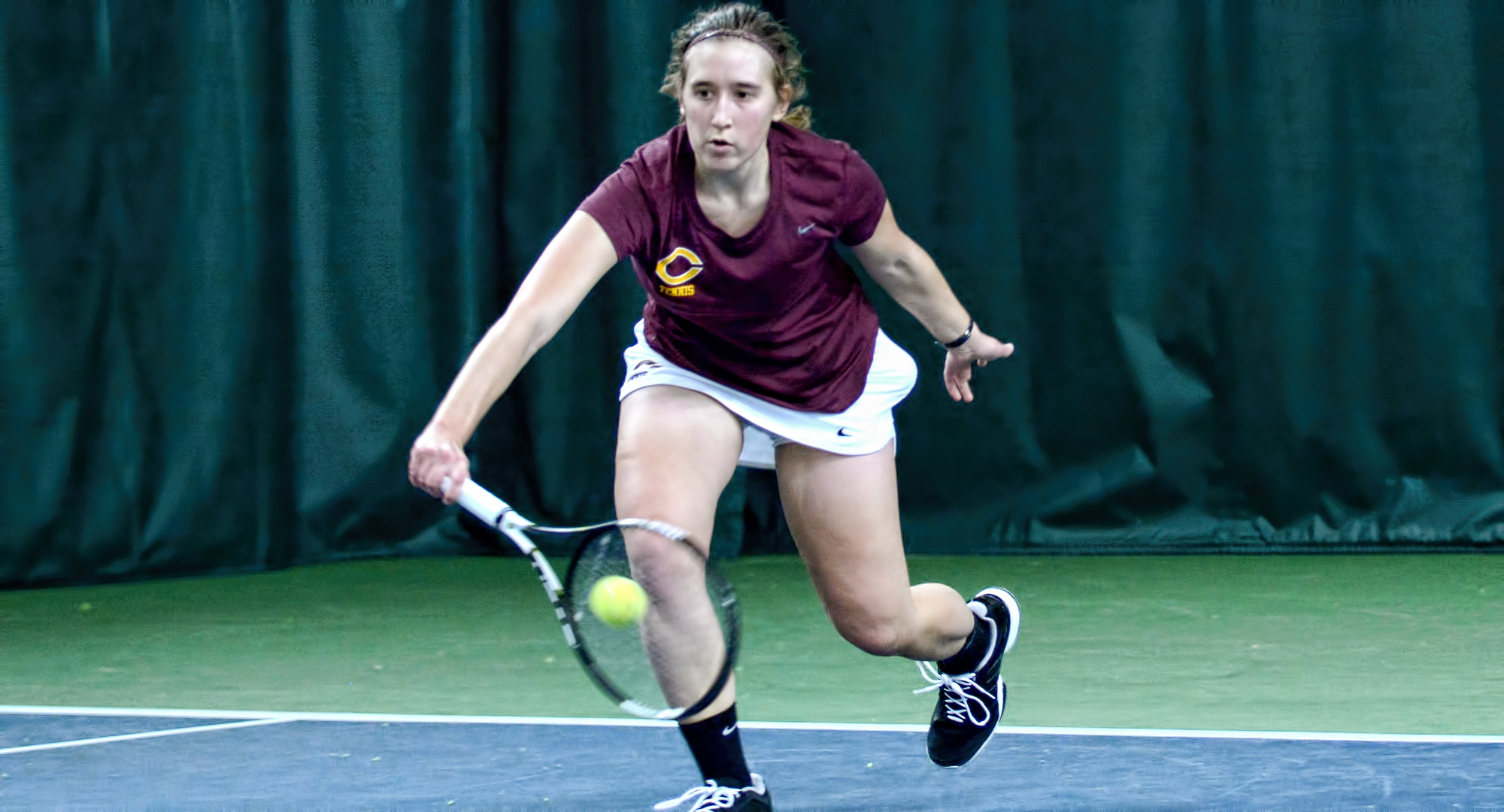 Concordia sophomore Lisa Neumann was part of the Cobber No.2 doubles team which lost a heartbreaker in the tie-breaker in their match at St. Mary's.
