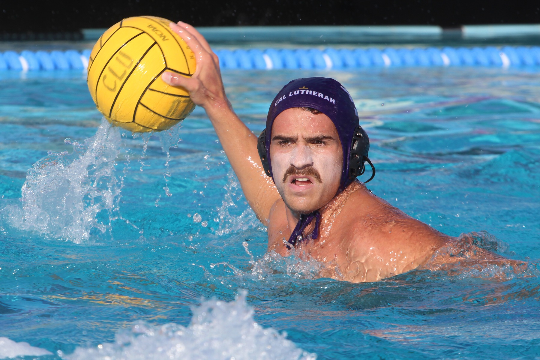 Tanner Kaplan scored one goal in each game as CLU defeated Fresno Pacific 13-11 and McKendree 15-13. (Photo: Claire Caldera)
