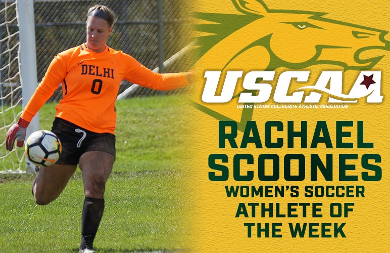 Scoones Receives Team's First USCAA Weekly Honor