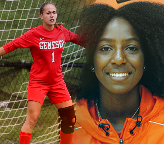 Hanson, Janiszewski picked as Women's Soccer Athletes of the Week