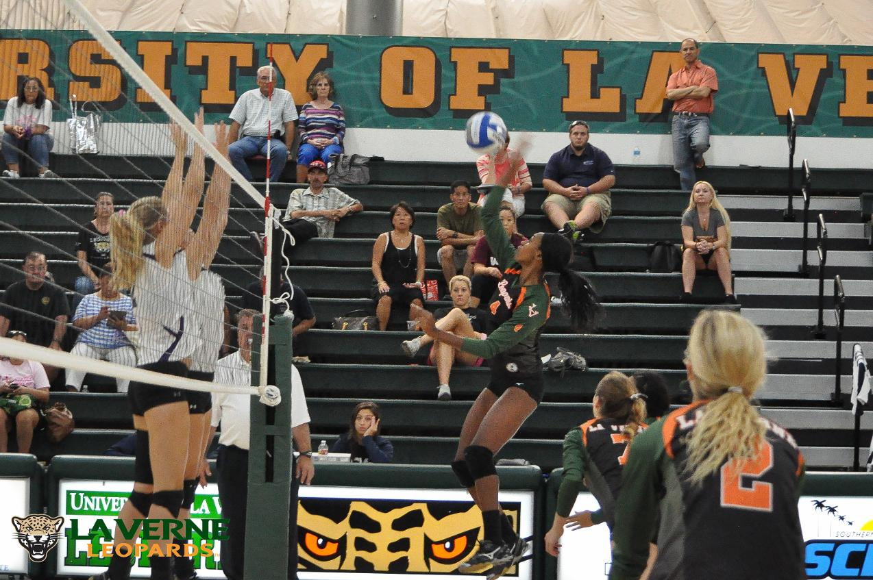 Leopard volleyball team slips against Occidental