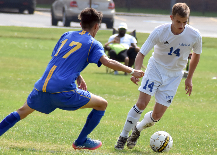 Lakeland falls on the road after Ancilla scores the first four goals, 4-2