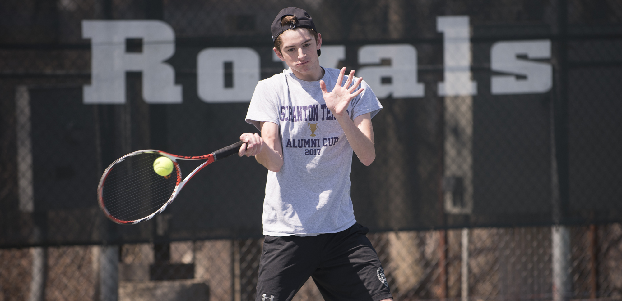Senior Brian Harkins moved into sole possession of fourth place on Scranton's all-time singles wins list on Friday against Hampden-Sydney.