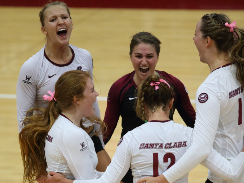 Santa Clara Volleyball Knocks Out No. 16 BYU In Five