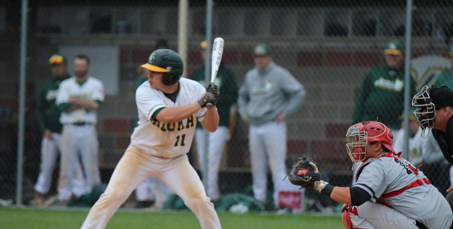 Dakota Skinner (11) had a combined four hits on the day for Keuka
