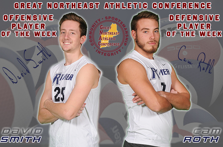 Men's Volleyball:  Roth and Smith earn GNAC honors.