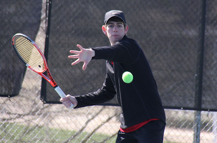 Men's Tennis: Panthers end regular season with loss to conference-leading N.C. Wesleyan