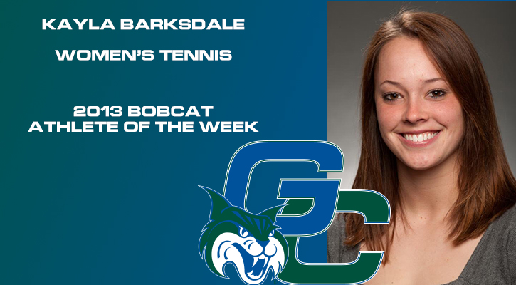 Barksdale Named Bobcat Athlete of the Week