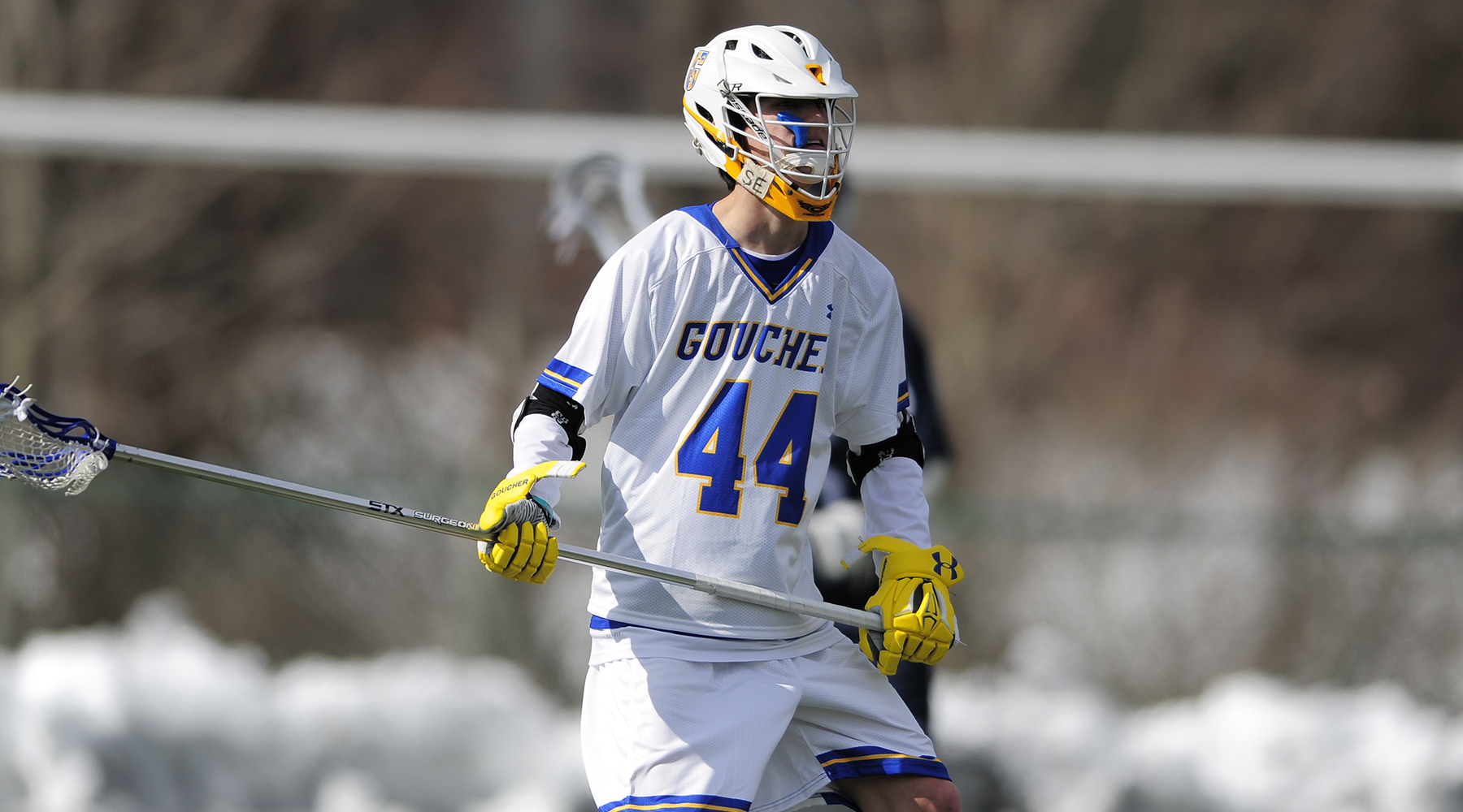 Harnish Pours in Five Goals, as Men's Lacrosse Buries Wesley, 14-6