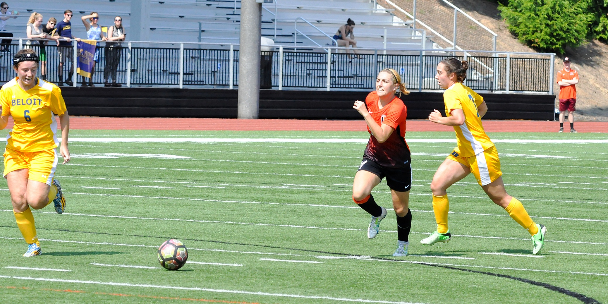 Trio of goals lifts Pioneers to victory