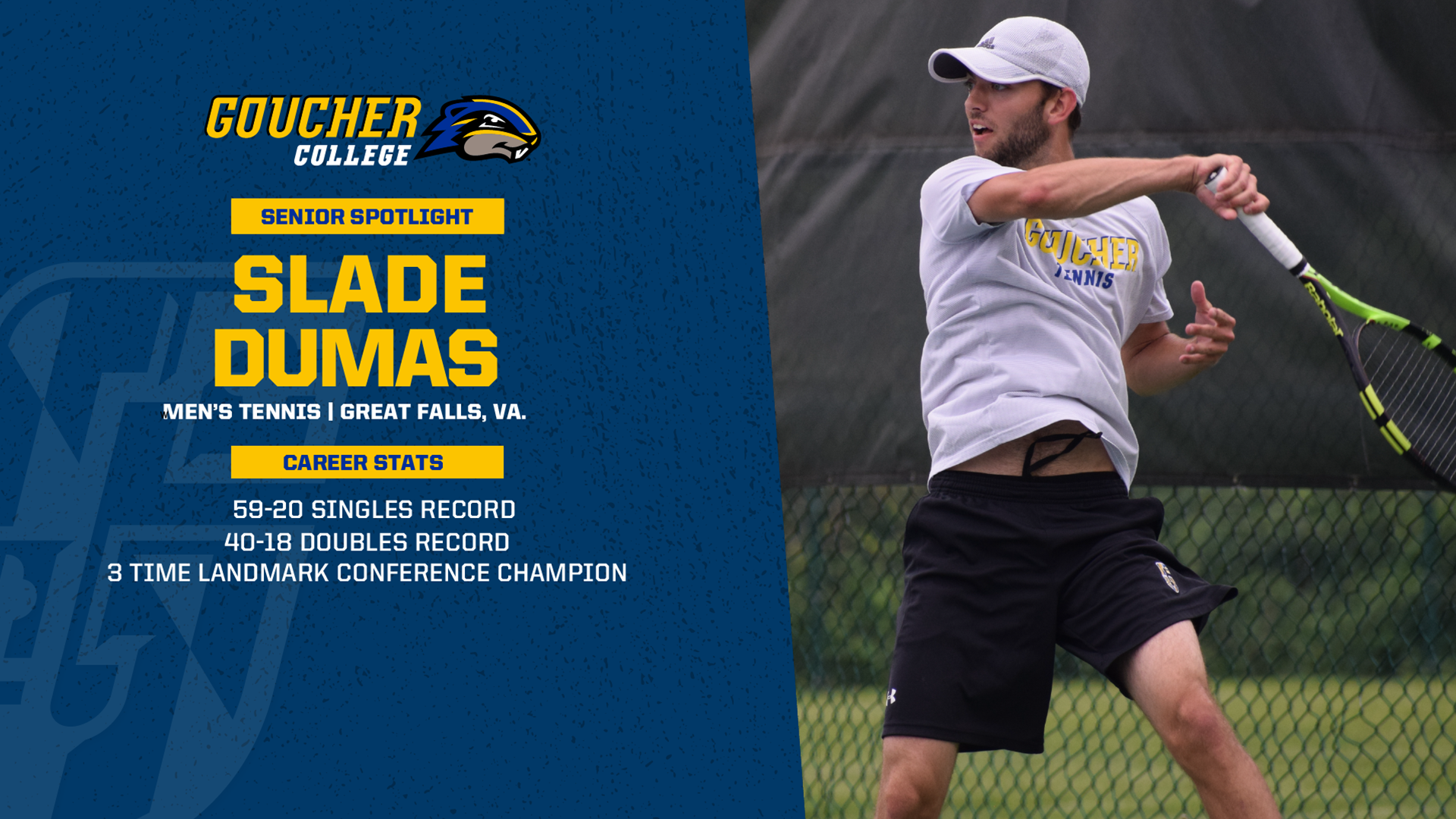 Senior Spotlight: Men's Tennis Slade Dumas