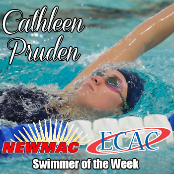 Pruden Garners Top NEWMAC & ECAC Swimmer Honors