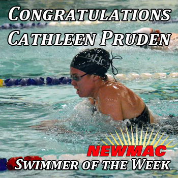 Pruden Earns NEWMAC Swimming Weekly Honors