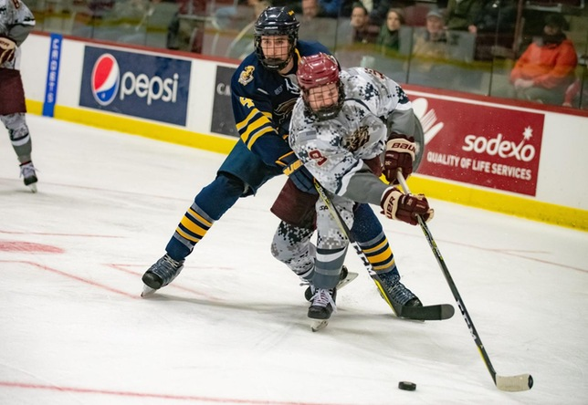 Jack Griffin men's hockey action vs. Neumann University