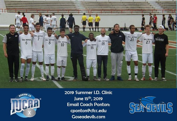 Cape Fear Community College Men's Soccer Summer I D  Clinic - Cape