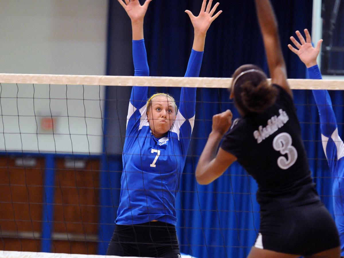 Baumert Blocks to a Career High, Blue Devils Fall to Sacred Heart